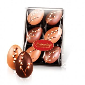 20 g Nougat-Eier in Vollmilch und Zartbitter, 6 Pralinen