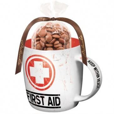 """Retro Tasse """"First Aid"""" mit oder ohne Inhalt"""