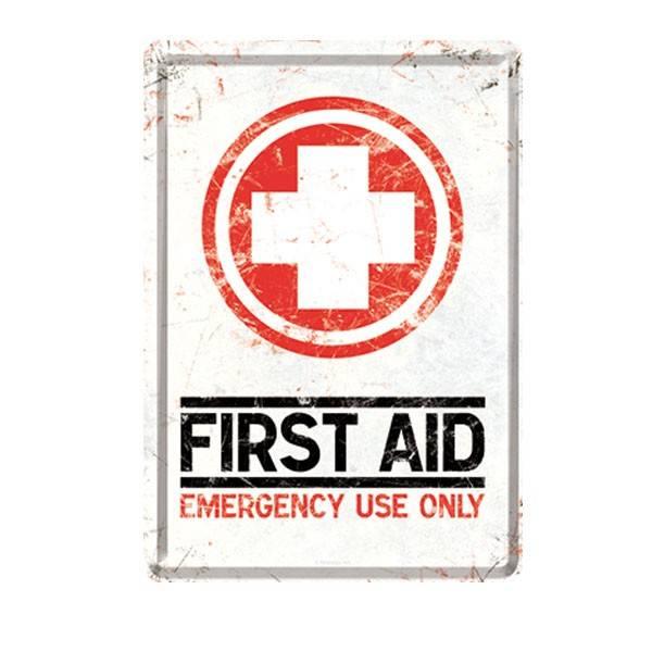 Blech-Postkarte First Aid