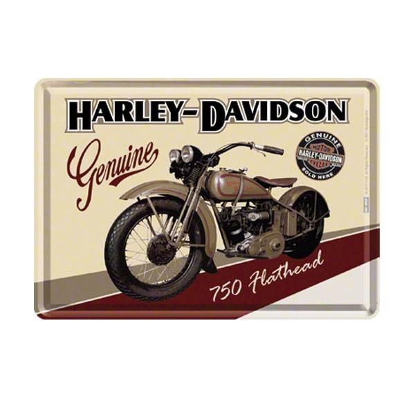 Blech-Postkarte Harley-Davidson