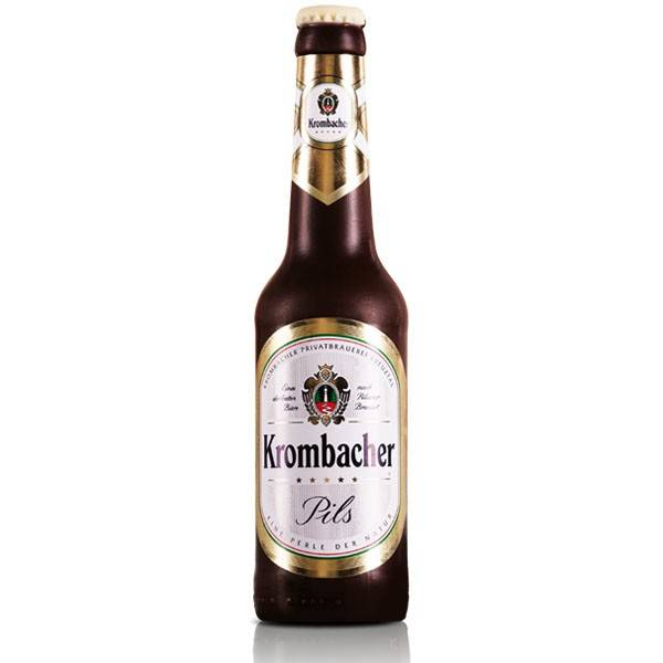 Schoko-Bierflasche Krombacher, 22 cm