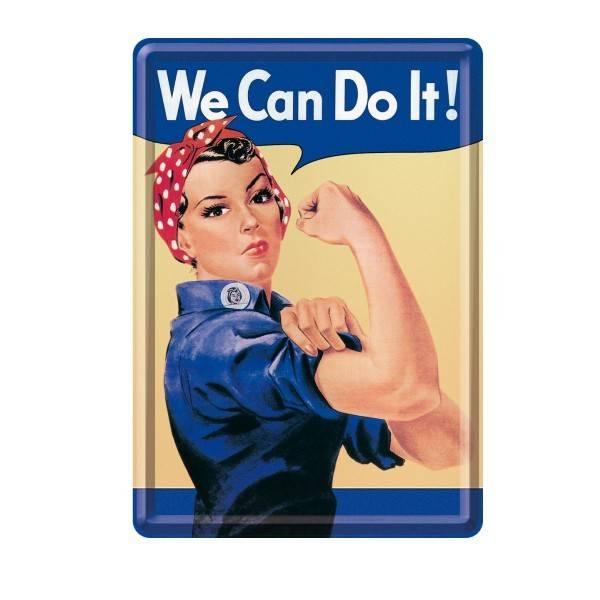 Blech-Postkarte We Can Do It