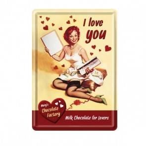 "Blech-Postkarte ""I Love You"""