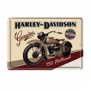 "Blech-Postkarte ""Harley-Davidson"""