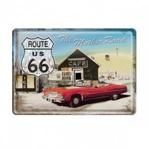 """Blech-Postkarte""""Route 66"""""""