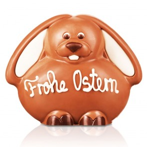 """Schoko-Hase """"Frohe Ostern"""", 10 cm"""