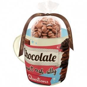 """Retro Tasse """"Chocolate"""" mit oder ohne Inhalt"""
