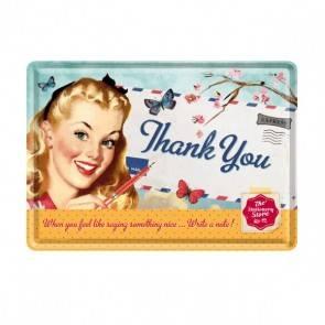 """Blech-Postkarte """"Thank You"""""""