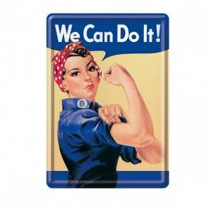 "Blech-Postkarte ""We Can Do It"""