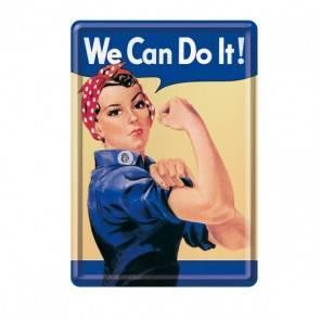 "Blech-Postkarte ""We Can Do It"""