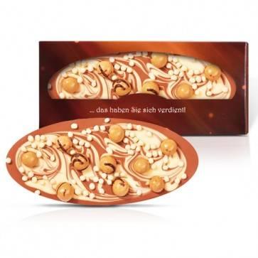 Schokoladentafel in individueller Schachtel