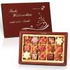 Weihnachtskollektion mit 15 Pralinen und individuellem Golddruck