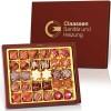 Weihnachtskollektion mit 30 Pralinen und individuellem Golddruck