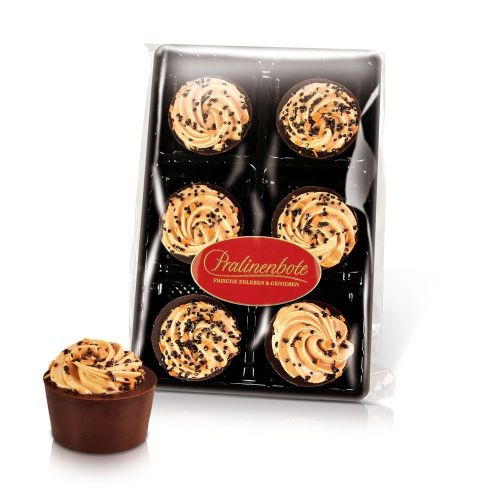 Cappuccino-Nougat Cupcake, 6 Pralinen