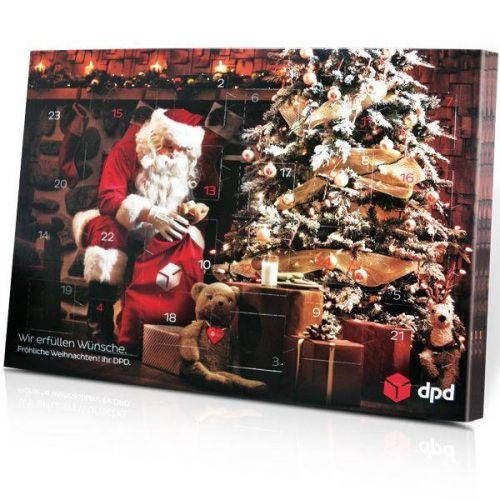 Alkoholfreier Adventskalender mit schokoladiger Vielfalt in individueller Schachtel