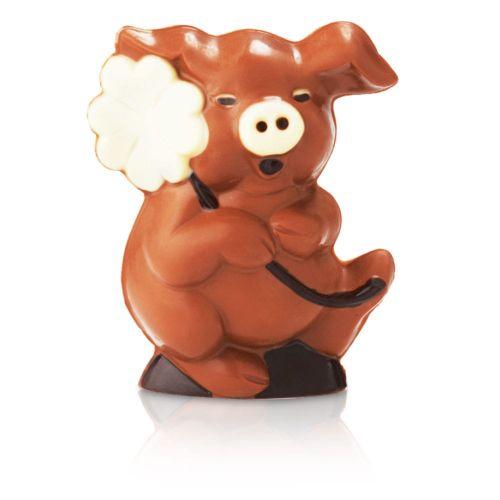 Schoko-Glücksschweinchen, 13 cm