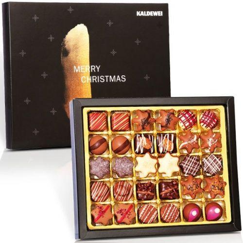Weihnachtskollektion mit 30 Pralinen in individueller Schachtel