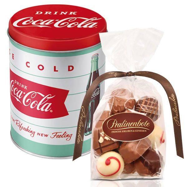 Runde Blech-Dose Coca Cola mit oder ohne Inhalt