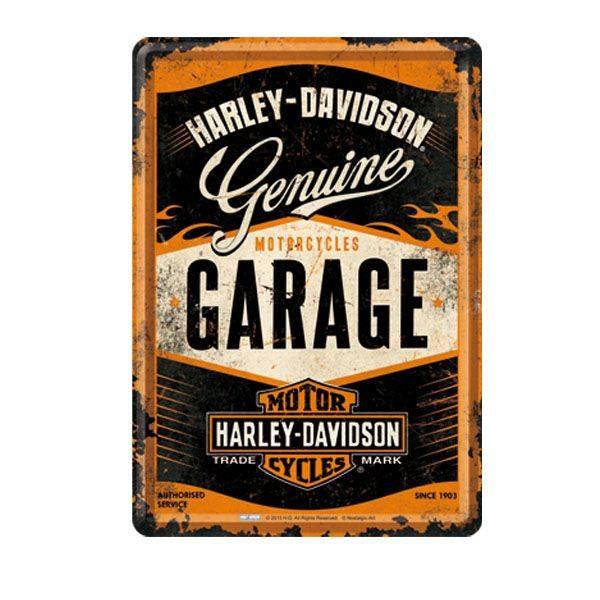 Blech-Postkarte Harley-Davidson GARAGE