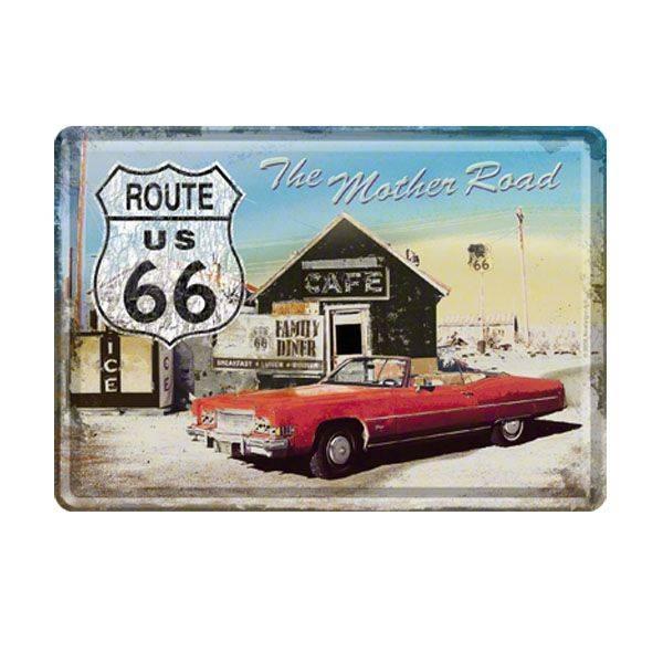 Blech-PostkarteRoute 66