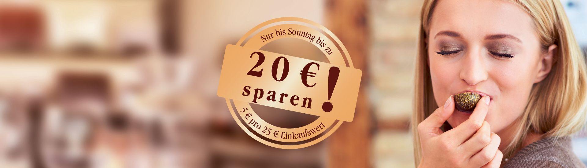 Bis zu 20 € sparen!